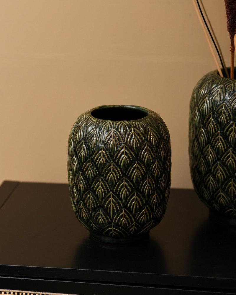 Vase Leaves Green