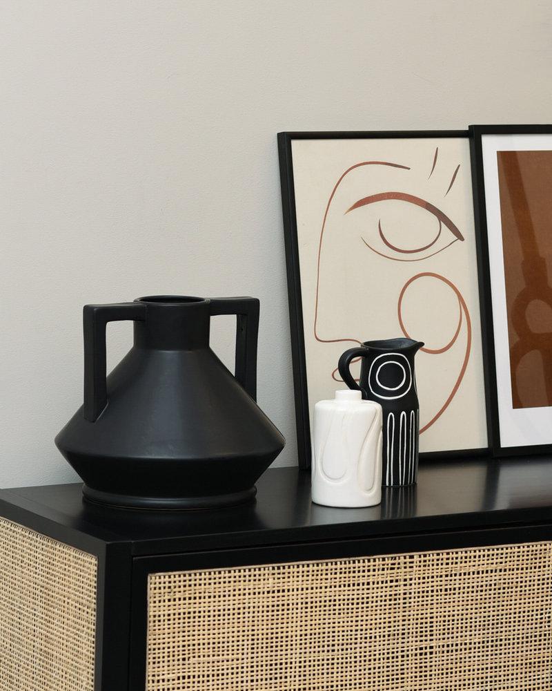 Vase Troy Black Stoneware