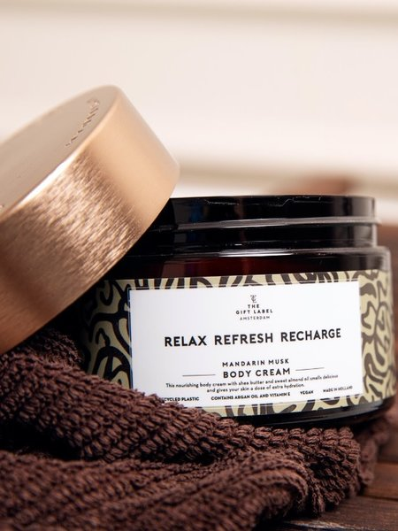The Giftlabel Body Cream Relax Refresh Recharge