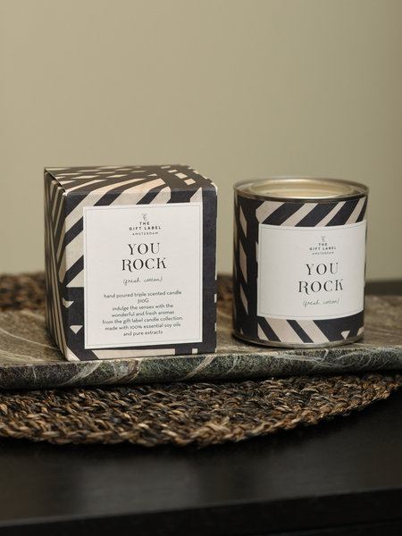 The Giftlabel You Rock Candles