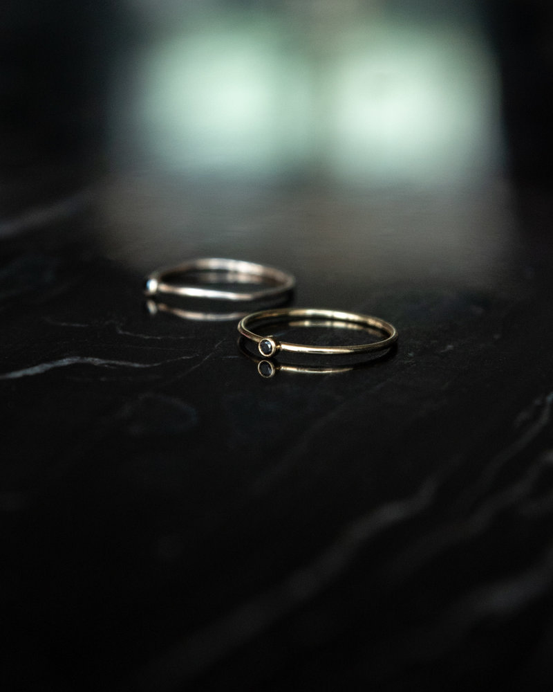 Sleek Onyx Ring Goldfilled