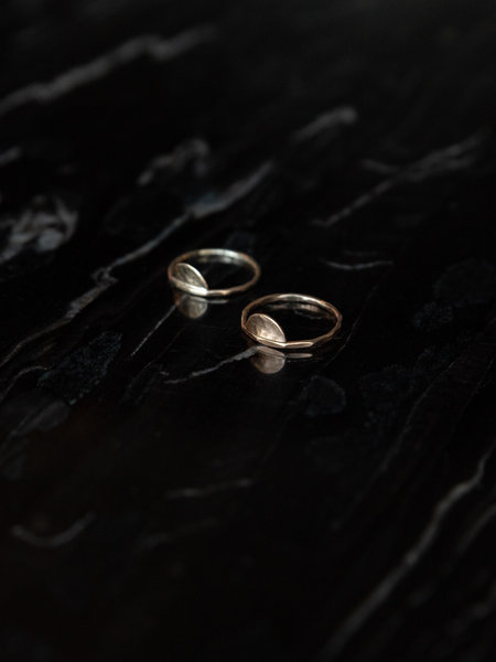 The Two Collectors Crescent Moon Ring Goldfilled
