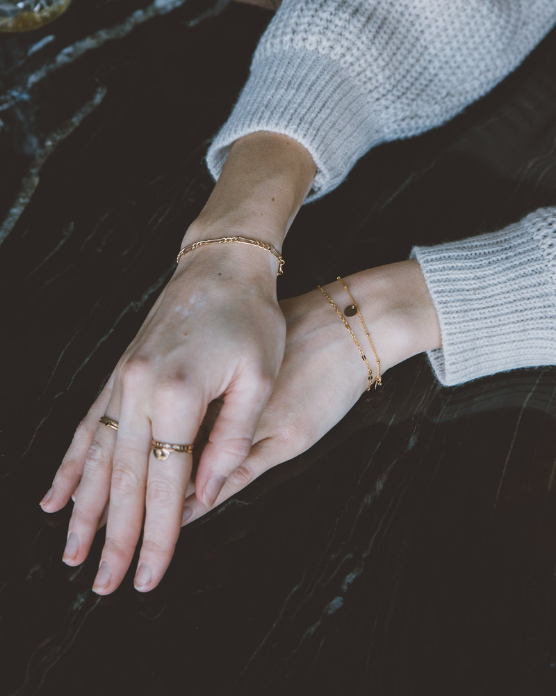 Bracelet Figaro Goldfilled