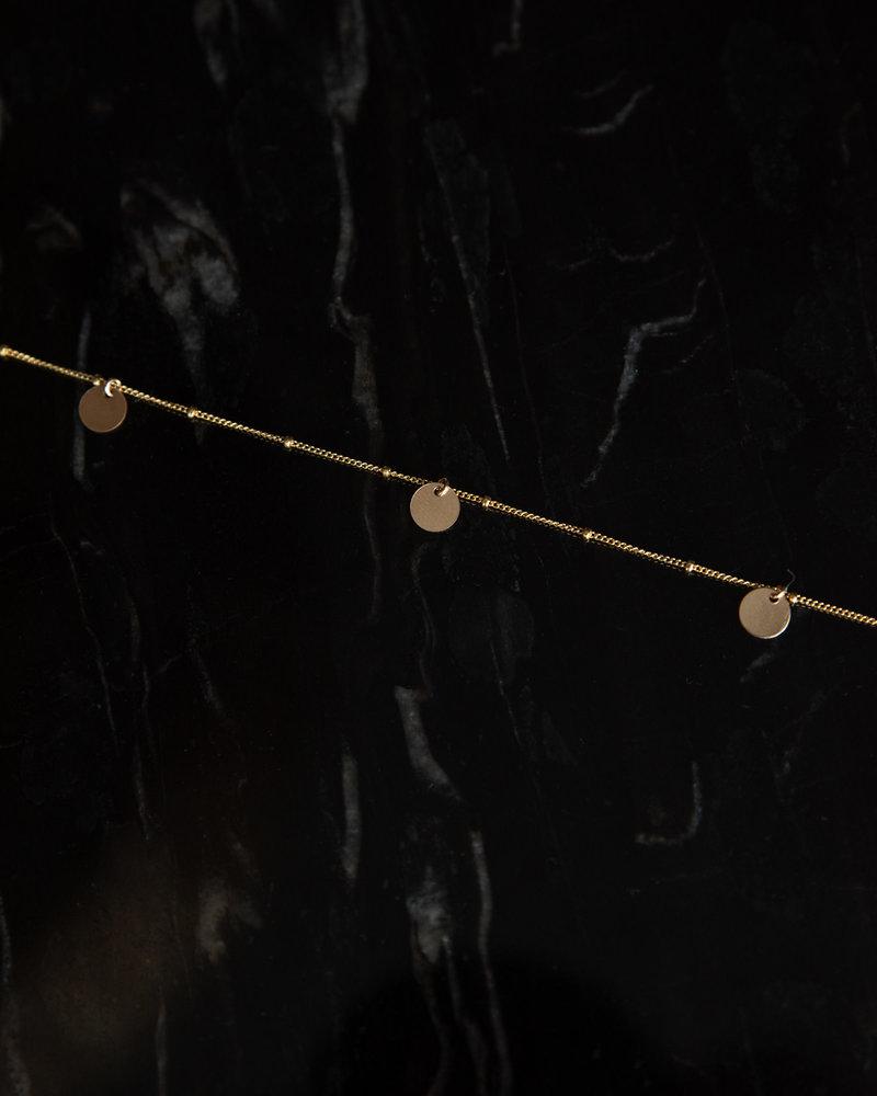 Galaxy Bracelet Three Sequins Goldfilled