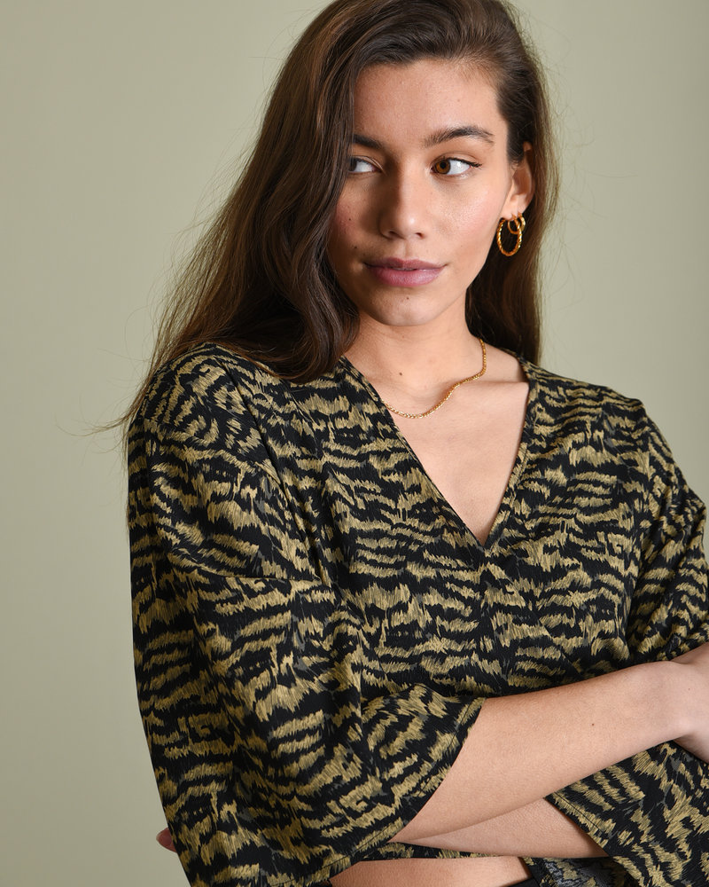 TILTIL Printed Sunny Top Green Faded