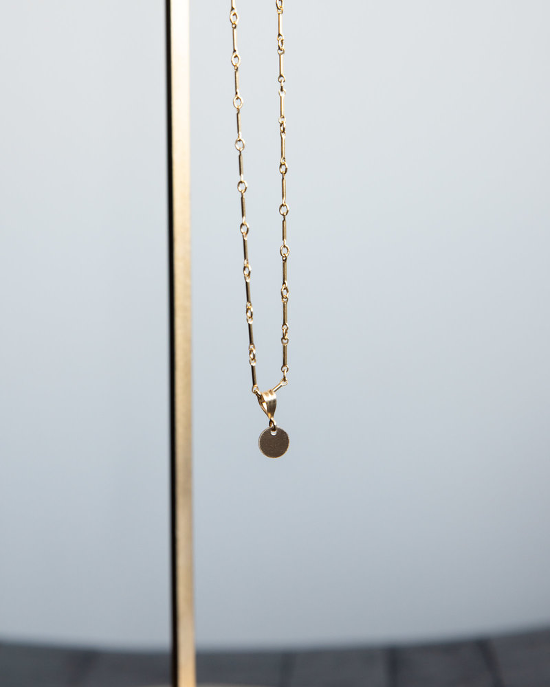 Necklace Charm Sequin Goldfilled