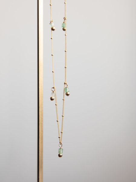 The Two Collectors Galaxy Aventurine Necklace Goldfilled