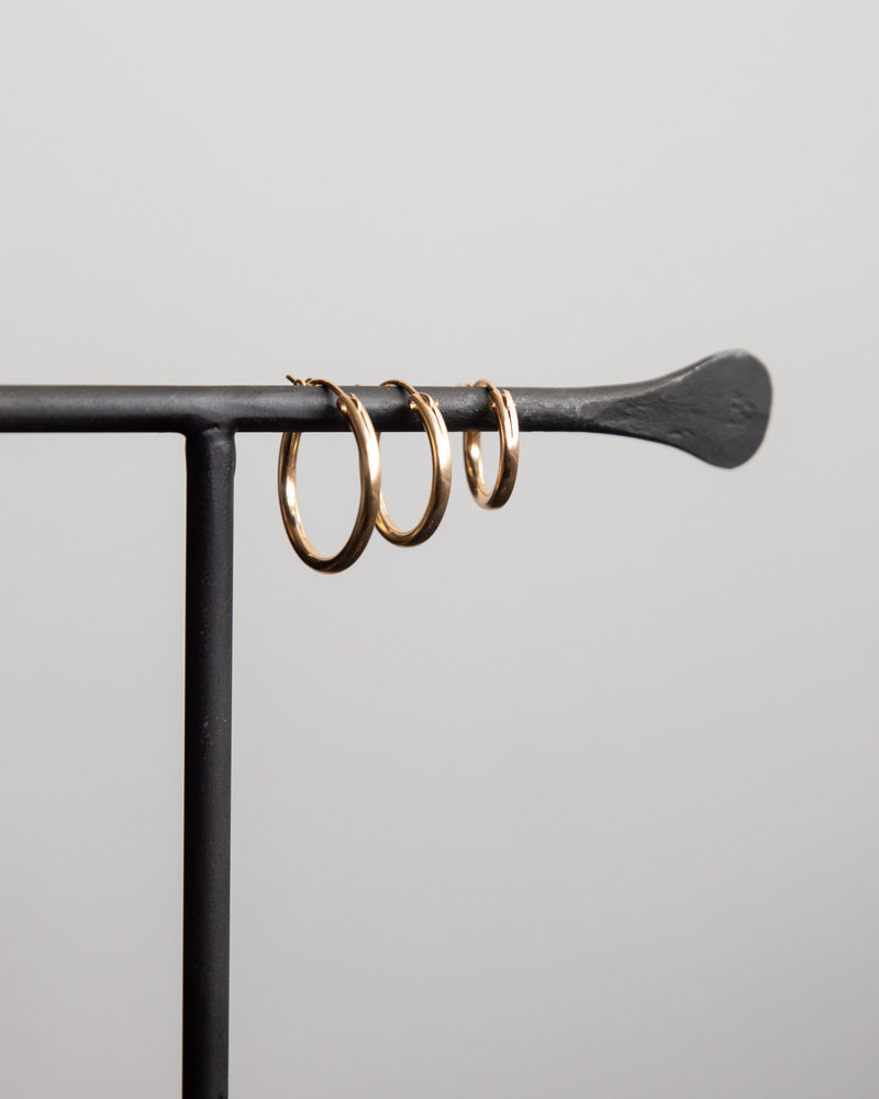 Earring Chunky Hoop 15mm Goldfilled