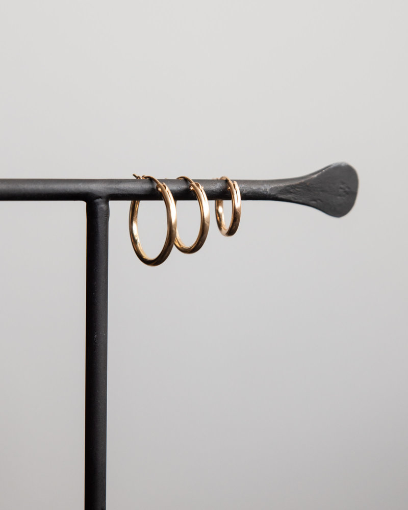 Earring Chunky Hoop 18mm Goldfilled