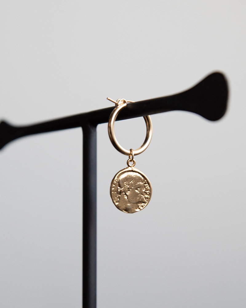 Earring Charm Livorno Goldfilled