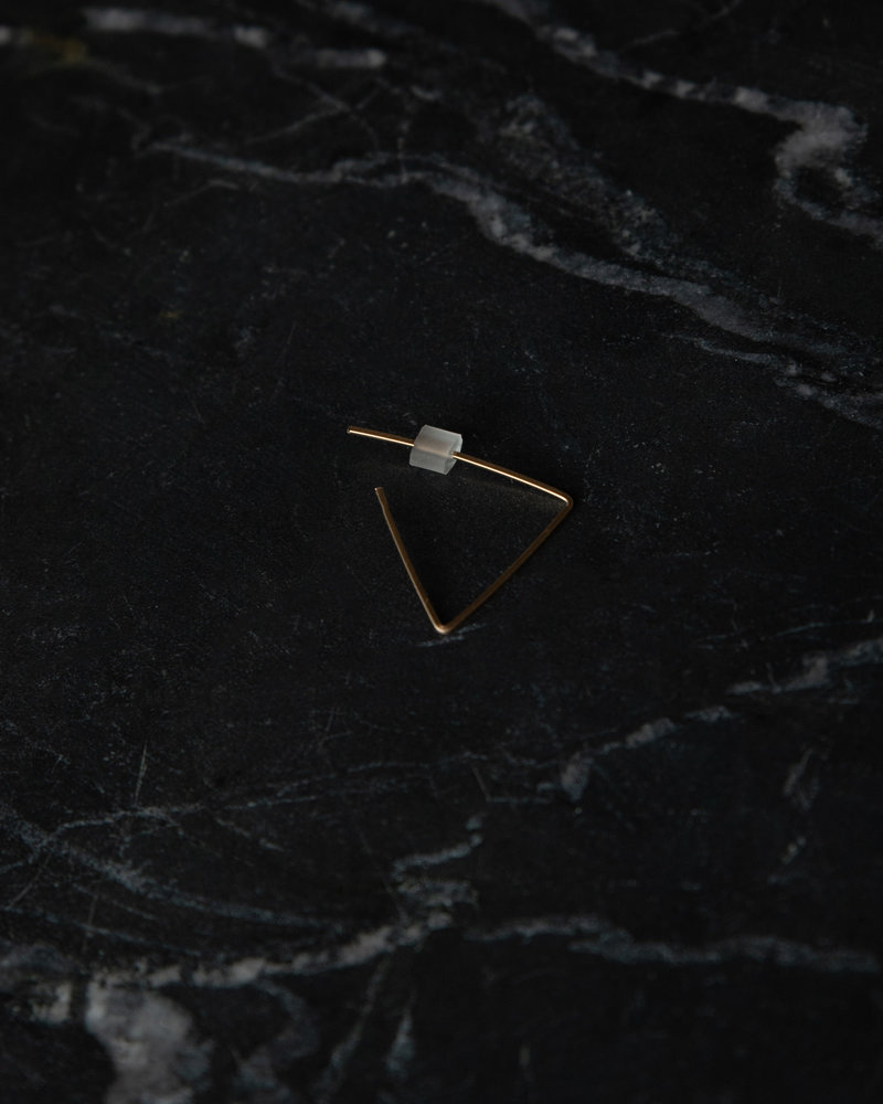 Earring Triangle Hoop Goldfilled