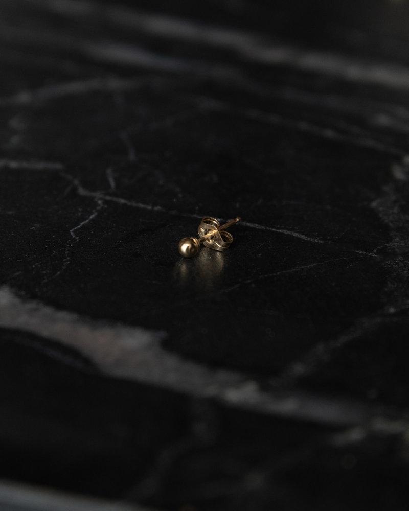 Earring Stud Dot  Goldfilled