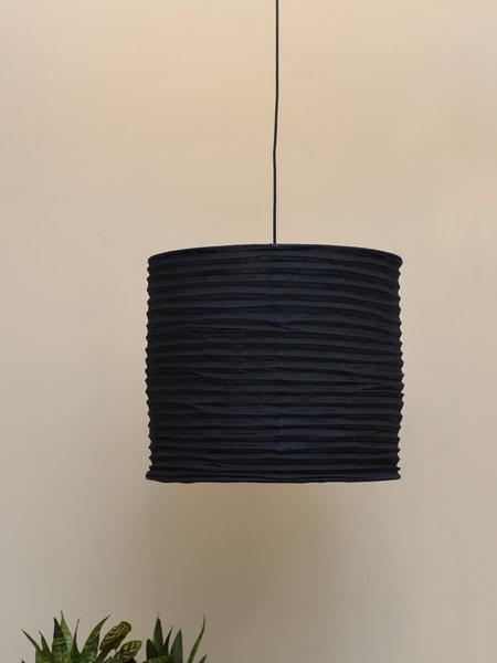 Hang Lamp Linen Black/Grey