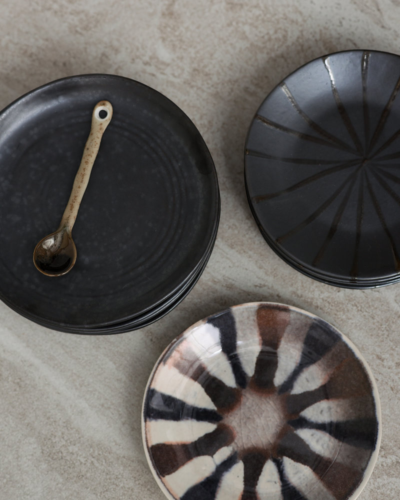 Cake Plate Suns Dark Brown