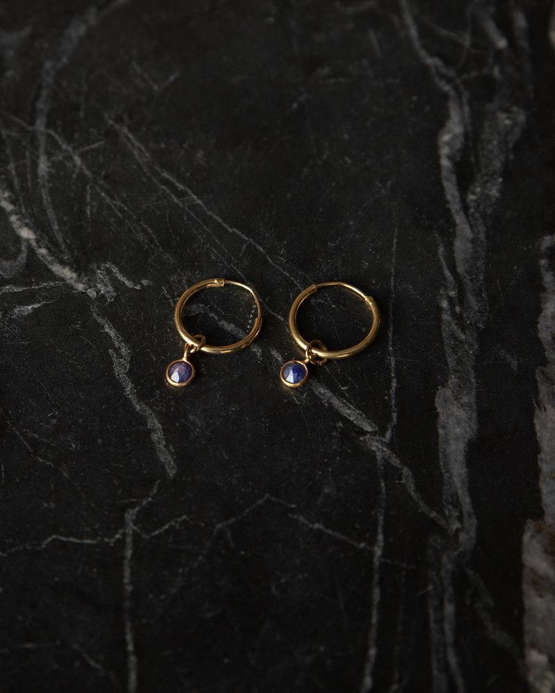 Simple Dot Earring Violet Blue