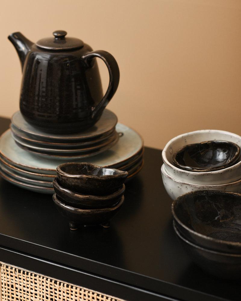 Mini Bowl With Feet Black Coal