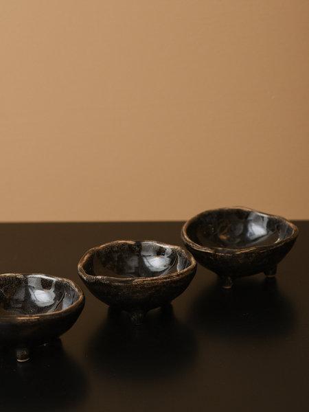 Broste Mini Bowl With Feet Black Coal