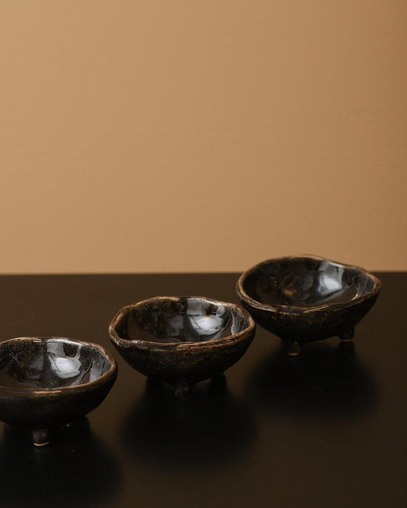Mini Bowl With Feet Coal
