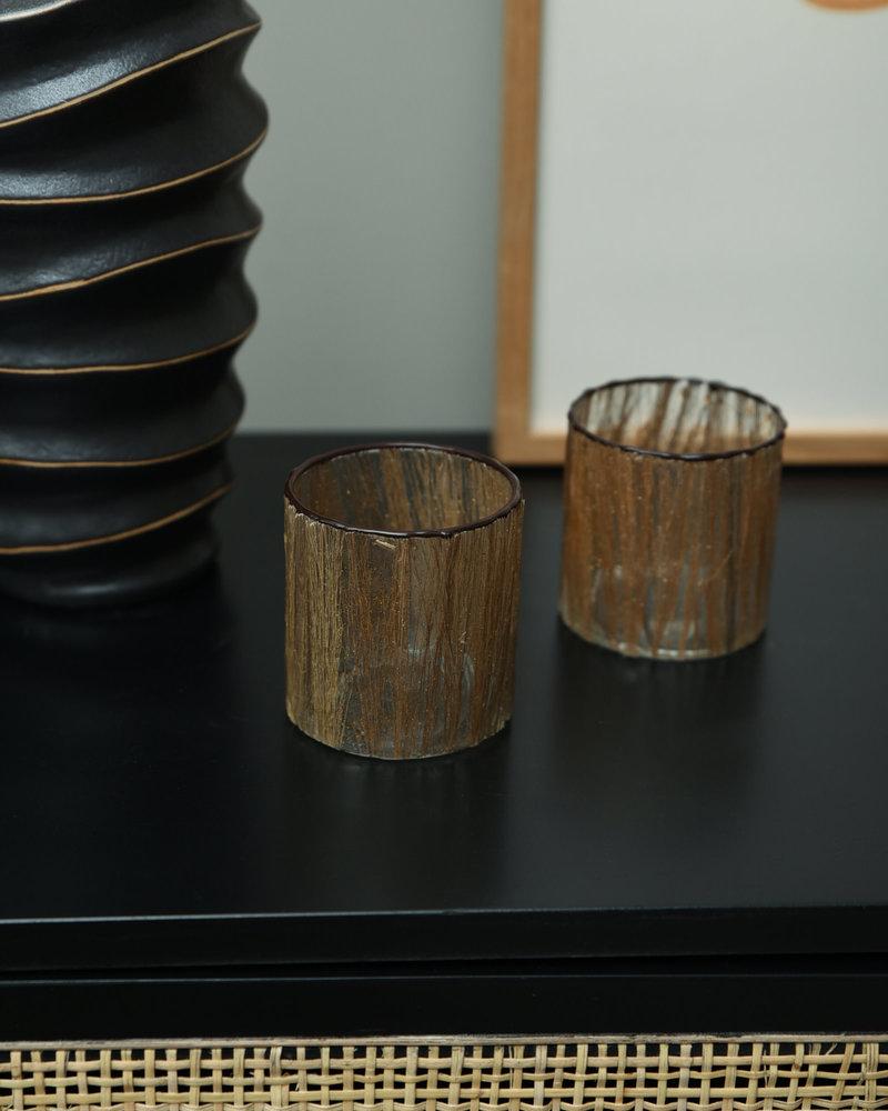 Tealight Gold Glass