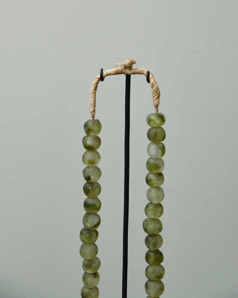 African Necklace Green Beads