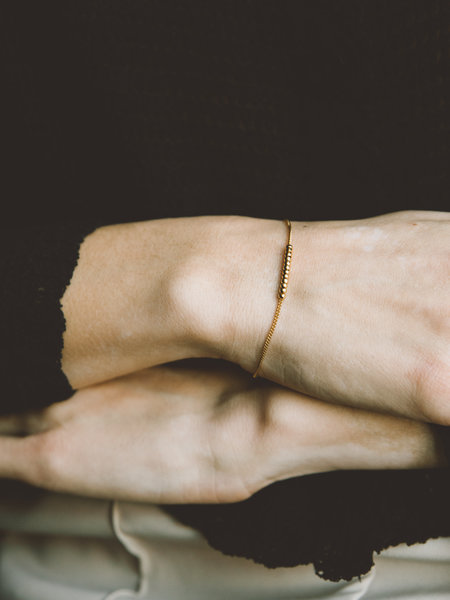 Ess Yello Bracelet Golden Beads
