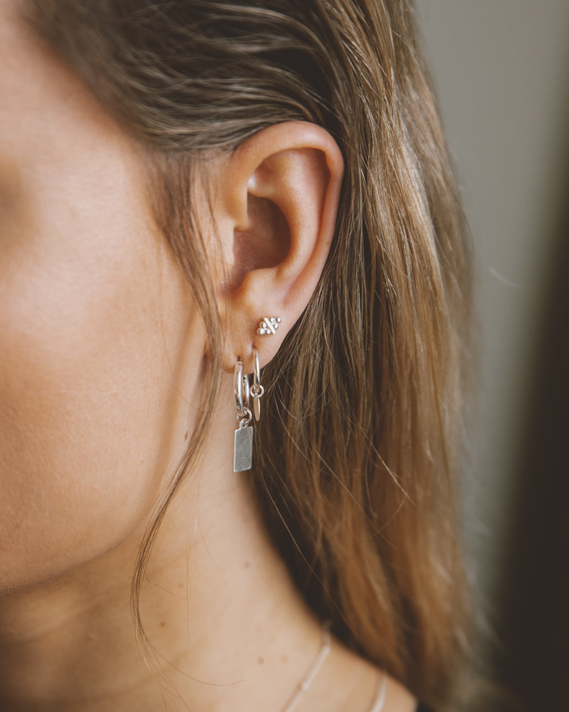 Earring Charm Sequin Silver