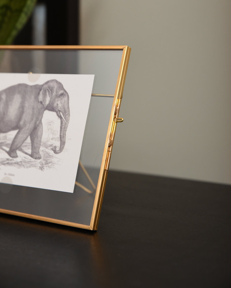 Brass Photo Frame Elephant