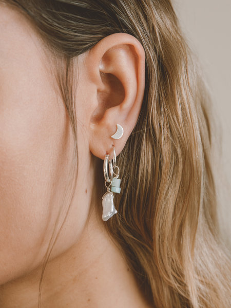 The Two Collectors Earring Charm June Pearl Silver