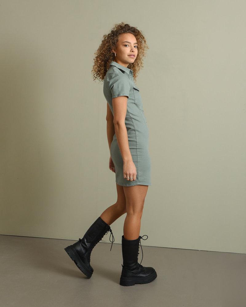 Joy Dress Slate Gray
