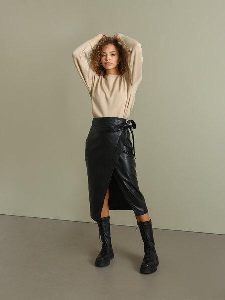 Rut & Circle Petra Pu Skirt Black