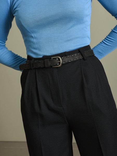 YAS Sue Leather Belt Black