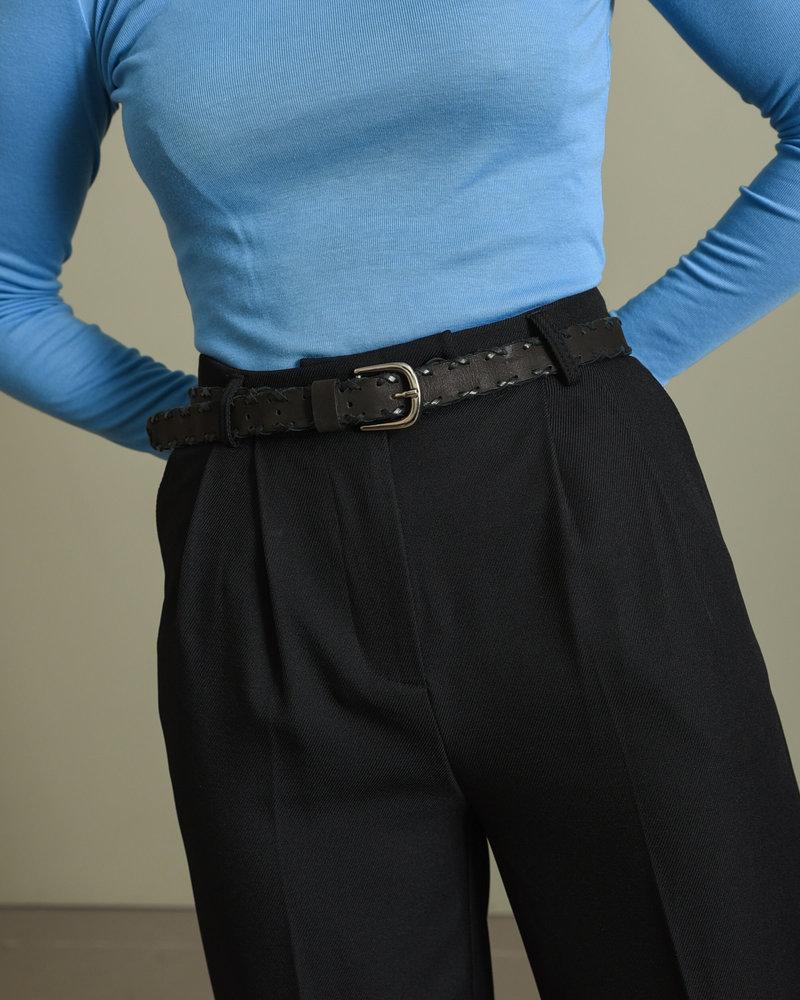 Sue Leather Belt Black