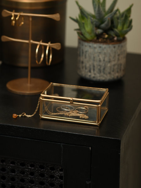 Madam Stoltz Box Glass Brass