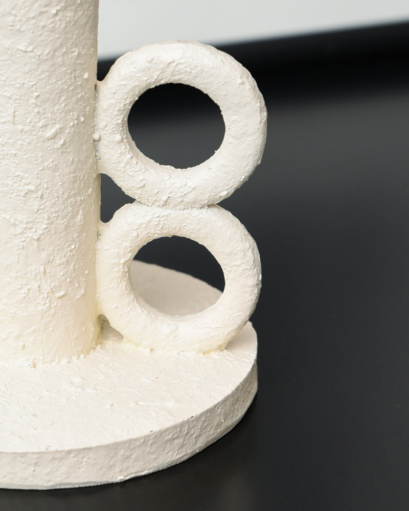 Candle Holder White Poly
