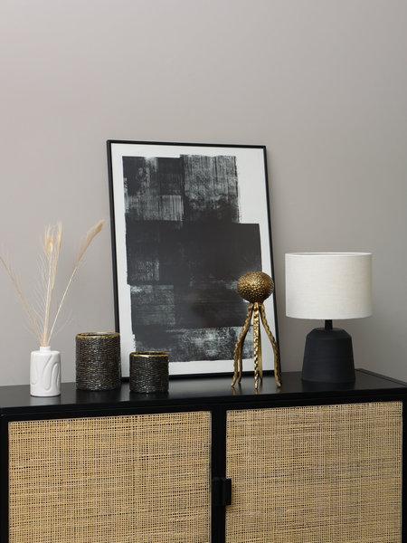 Paper Collective Midnight Art Print + Frame Black 50 x 70