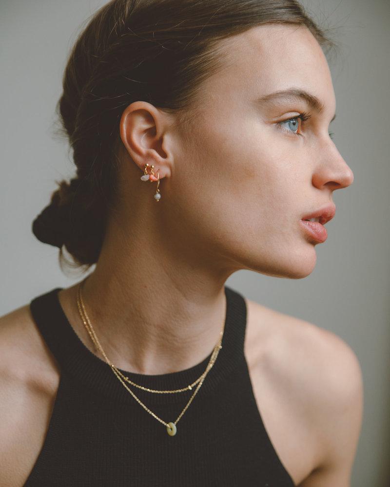 Stone Bead Necklace Yellow