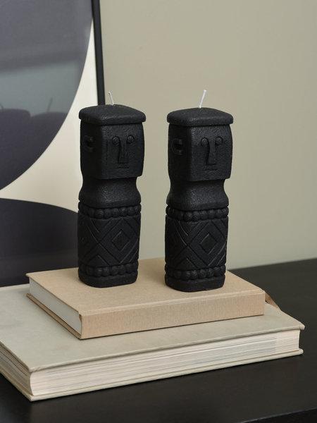Candle Tiki Black