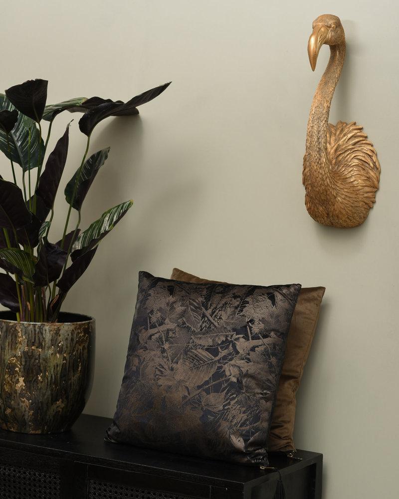 Cushion Leaves Black