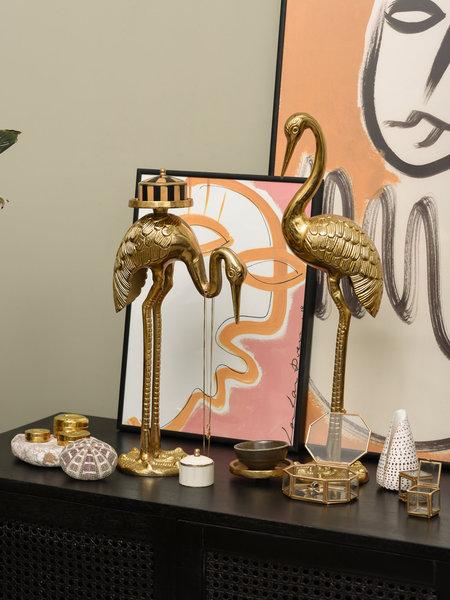 Jewelry Stand Crane Bird