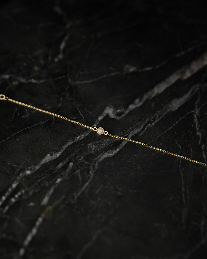 Bracelet Solo Mini Dot Clear Gold