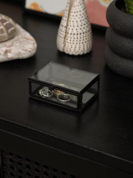 Madam Stoltz Box Glass Black