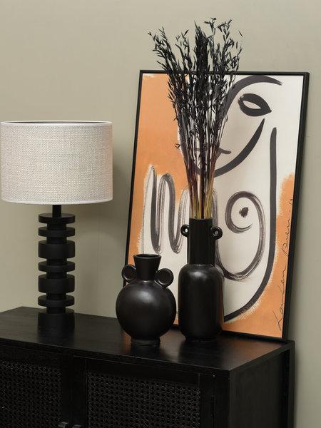 Vase Round Black Small