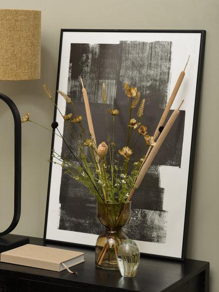 Vase Hourglass Brown