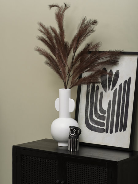 Art Print Black Stripes + Frame Black