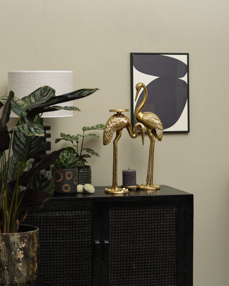 Art Print Solid Shapes + Frame Black 30 x 40