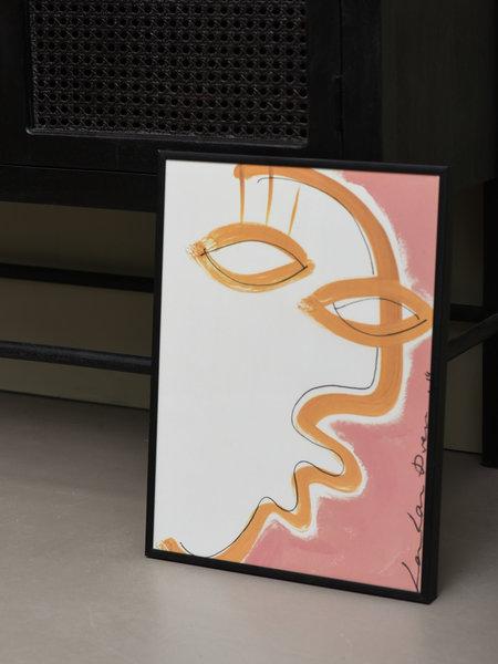 Paper Collective Art Print Gentil + Frame Black 30 x 40