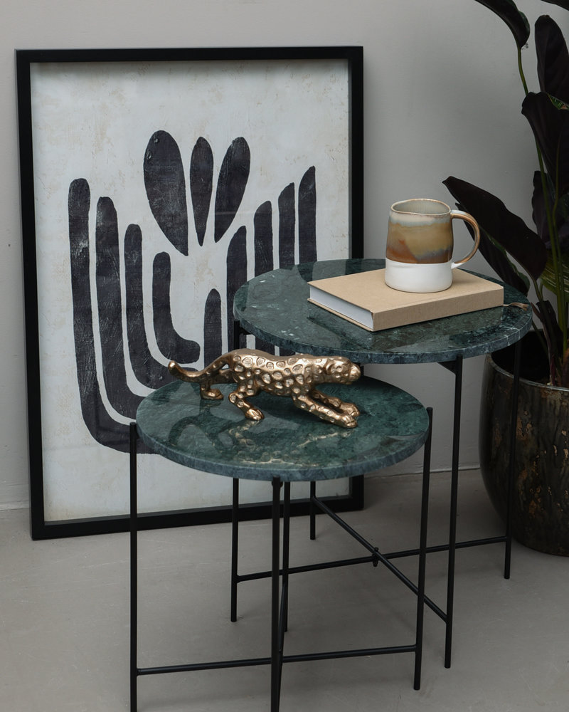 Side Table Quillon Green Marble