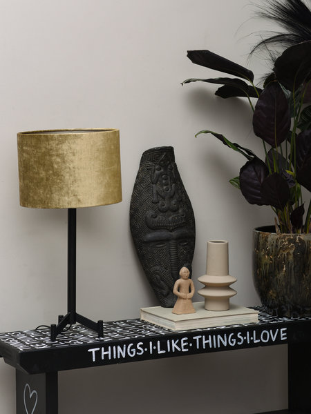 Lamp Dennis + Shade Gemstone Olive