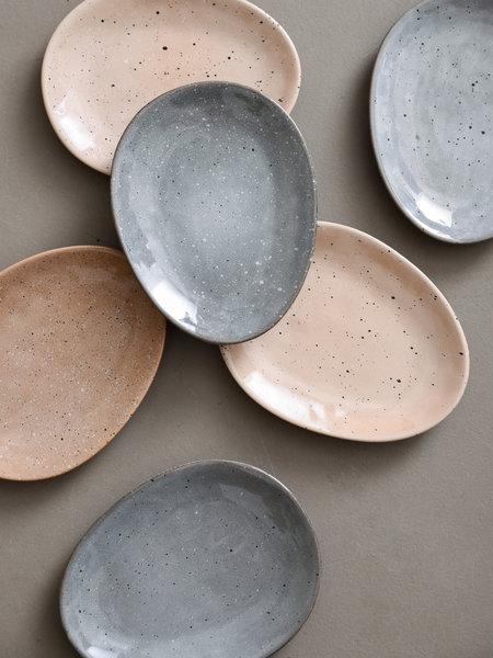 Basik Plate Ole Oval Grey