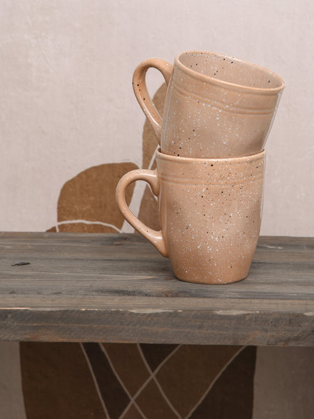 Basik Mug Ole With Ear Plate Nude
